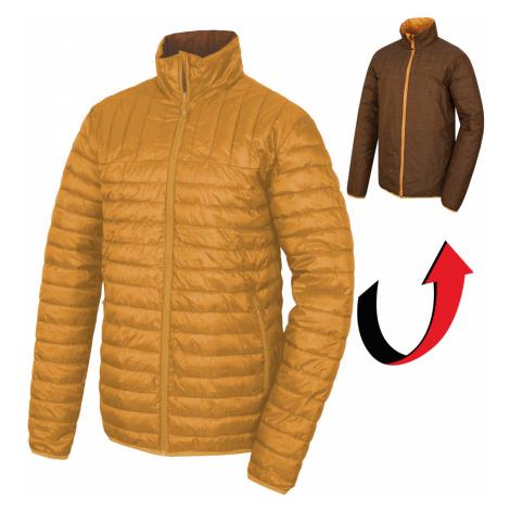 Husky Nodiq krémovo žltá / tm.horčicová, Pánska plnená obojstranná bunda