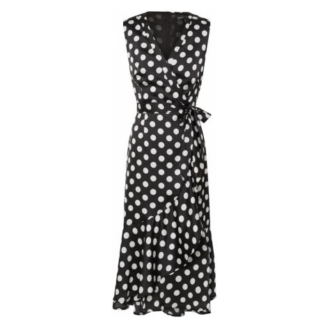 Mela London Šaty  biela / čierna