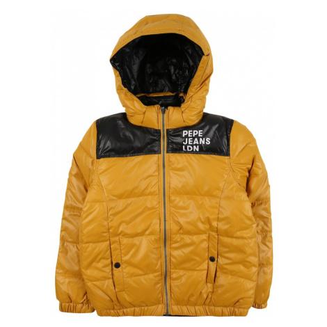 Pepe Jeans Zimná bunda 'CAS'  žltá / čierna / biela