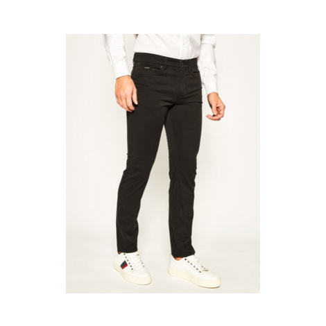 Boss Bavlnené nohavice Delaware3-1-20+ 50426629 Čierna Slim Fit Hugo Boss
