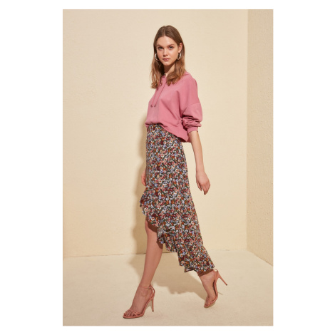 Women's skirt Trendyol Floral Pattern
