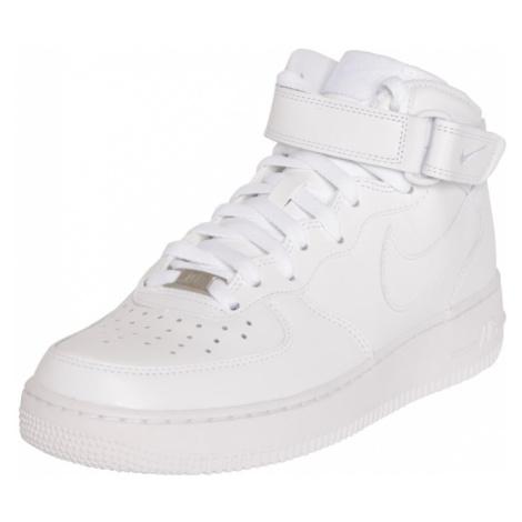Nike Sportswear Členkové tenisky 'Air Force Mid'  biela