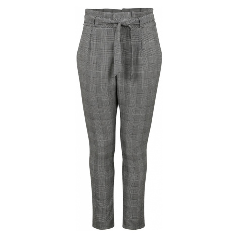 Vero Moda Curve Plisované nohavice  biela / čierna