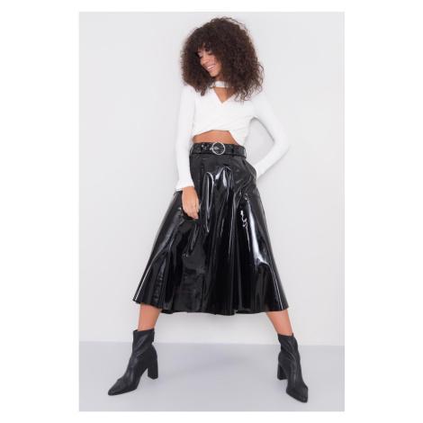 BSL Black midi skirt