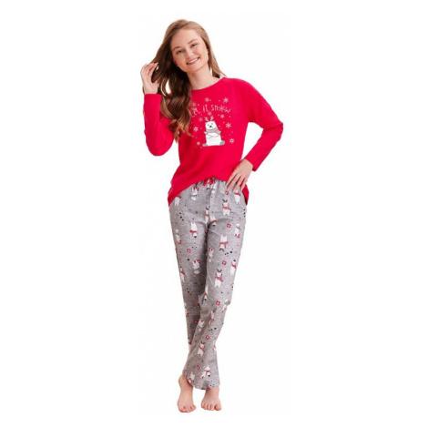 Dievčenské pyžamo Maja červené snow Taro