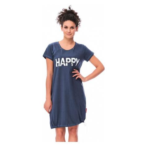 Materská nočná košeľa Happy mommy tmavo modrá