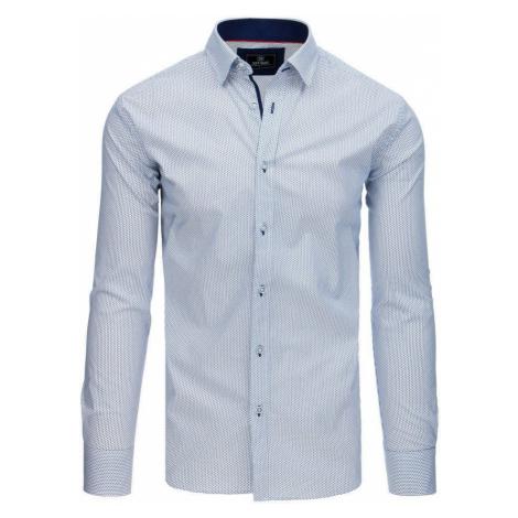 Pánska elegantná košeľa biela so vzorom dx1766