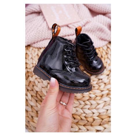 Children's Boots With Zipper Black Omua