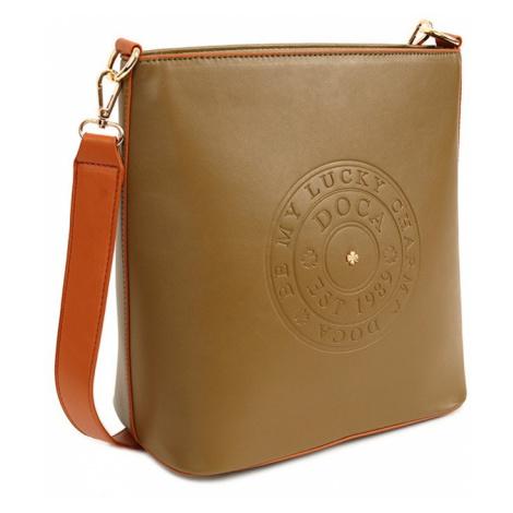 Dámska crossbody kabelka Doca 14517 - khaki