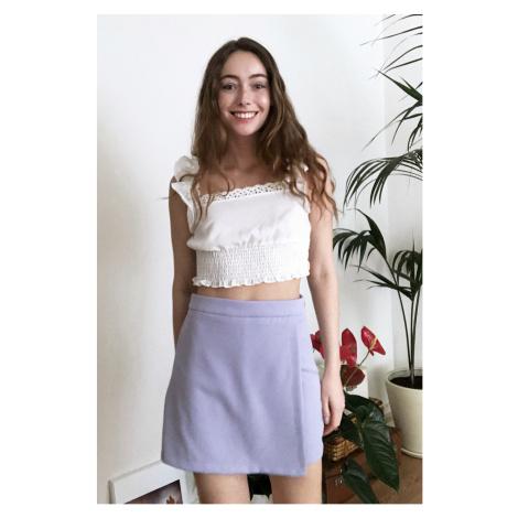 Trendyol Black Mini Shorts & Bermuda Lilac