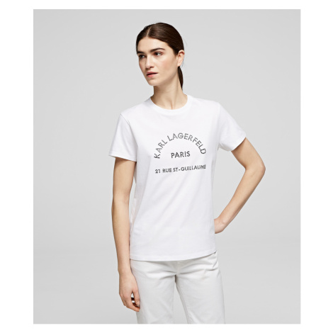 Tričko Karl Lagerfeld Rhinestones Address Tee