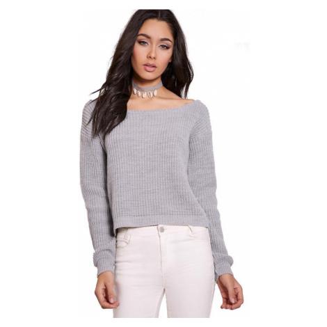 Krásny sveter so širokým výstrihom PrettyLittleThing
