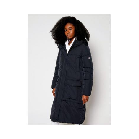 Champion Vatovaná bunda Hooded Long Coat 113445 Čierna Custom Fit
