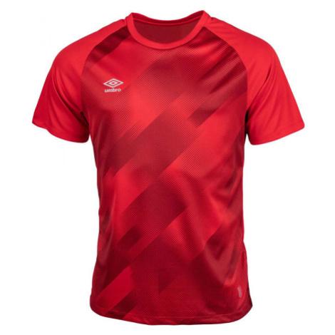 Umbro TRAINING GRAPHIC TEE červená - Pánske športové tričko