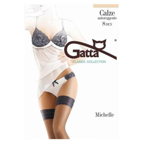 Samodržiace pančuchy Gatta 04-Michelle 8 DEN Čierna