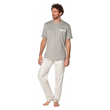 Pánske pyžamo Rossli Martin SAM-PY-188 II Grey Šedá