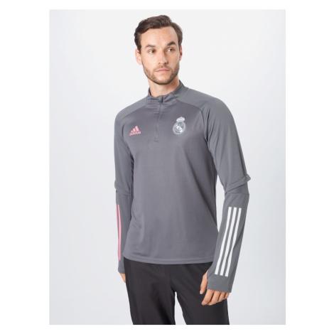 ADIDAS PERFORMANCE Športový sveter 'Real Madrid'  ružová / biela / sivá