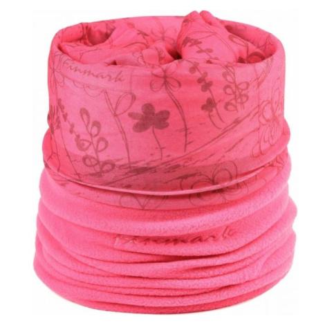 Finmark Detská multifunkčná šatka ružová - Detská multifunkčná šatka