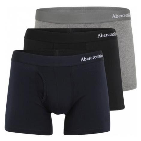 Abercrombie & Fitch Boxerky  čierna / tmavomodrá / sivá melírovaná