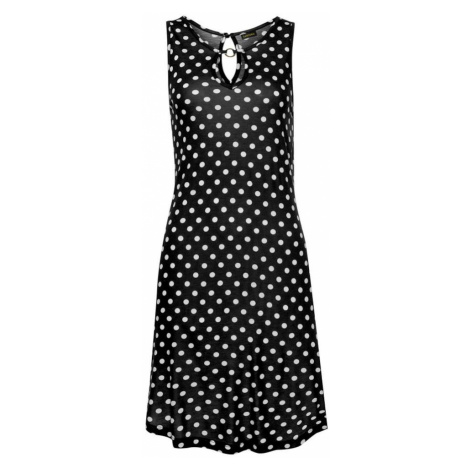 LASCANA Plážové šaty  čierna / biela