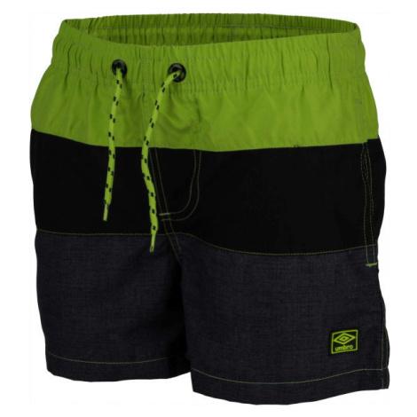 Umbro STEFFAN zelená - Chlapčenské plavecké šortky