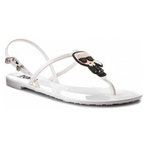 Sandále KARL LAGERFELD - KL80002 White Rubber