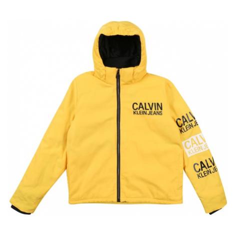 Calvin Klein Jeans Zimná bunda 'STAMP LOGO HOODED SH'  žltá