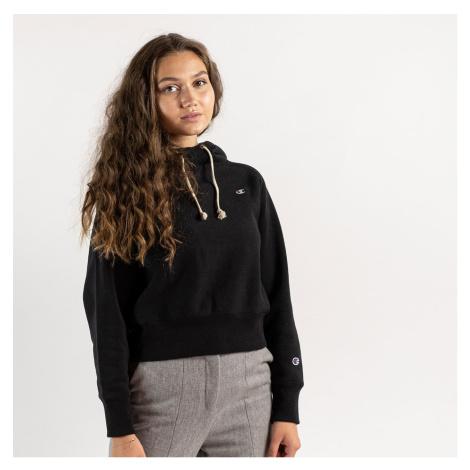 Čierna crop mikina Hooded Sweatshirt Champion