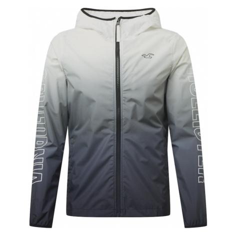 HOLLISTER Prechodná bunda  biela / sivá