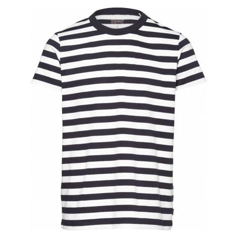 ESPRIT Tričko  námornícka modrá / biela
