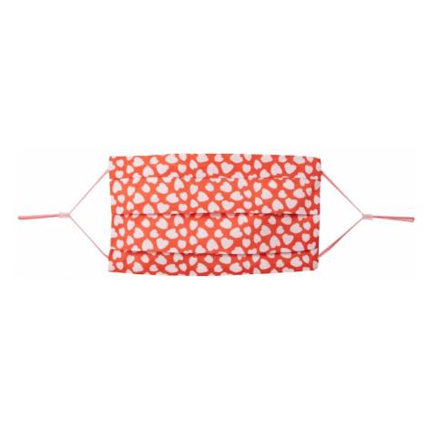 CODELLO Látkové rúško 'COVER UP HEARTS'  červená