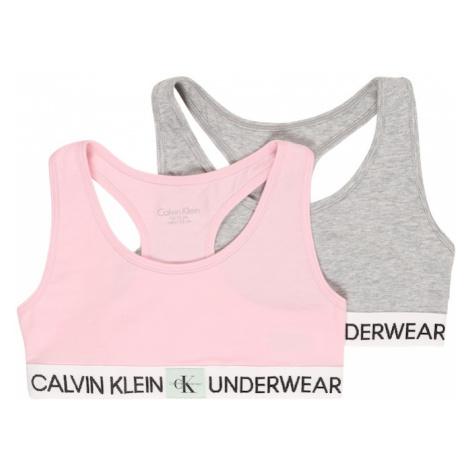 Calvin Klein Underwear Podprsenka  ružová / sivá melírovaná