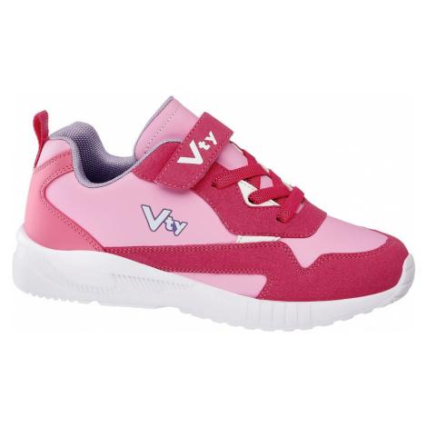 Vty - Ružové tenisky na suchý zips Vty