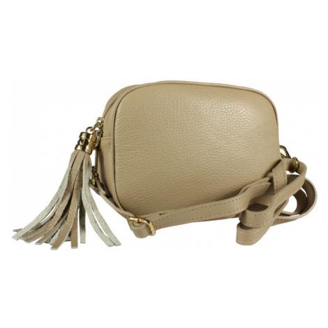 Talianská kožená kabelka Bala Taupe