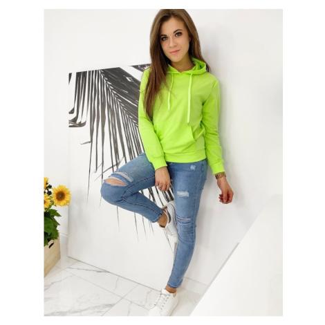 MODIVOS women's sweatshirt lime BY0582 DStreet