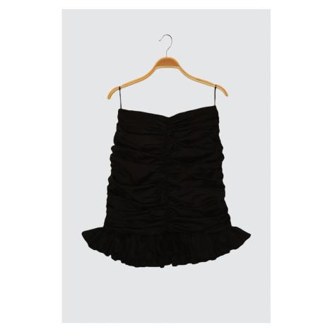 Trendyol Black Drape Detailed Skirt