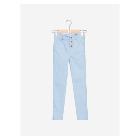 Modré dievčenské casual nohavice