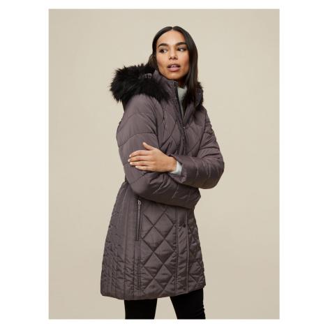 Dorothy Perkins sivé zimné kabát