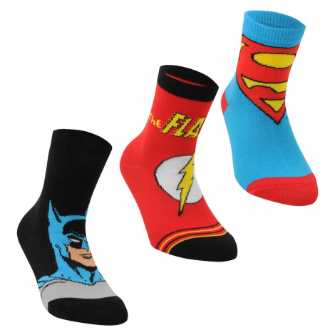 DC Comics Superman 3 Pack Crew Socks Childrens