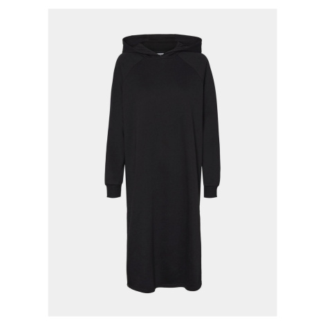 Noisy May čierne mikinové šaty Helene