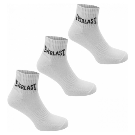 Everlast Quarter Socks 3 Pack Childrens bílá
