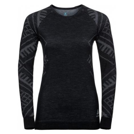 Odlo SUW WOMEN'S TOP L/S CREW NECK NATURAL+ KINSHIP WARM tmavo šedá - Dámske tričko