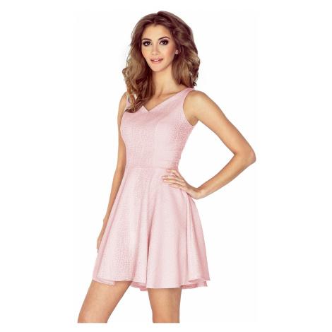 Svetloružové šaty MM014-5 Morimia
