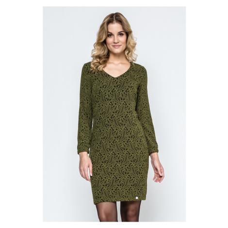Čierno-zelené šaty 240117 Enny