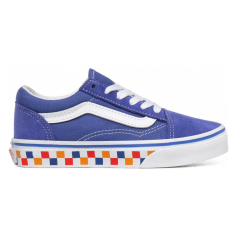 Vans Uy Old Skool (Tri Checkerbrd) Kids-13.5 fialové VN0A4BUUWKL-13.5