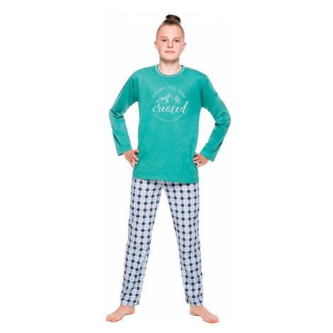Chlapčenské pyžamo Leo zelené Taro