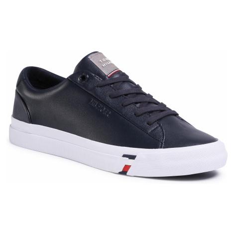 Sneakersy TOMMY HILFIGER - Corporate Leather Sneaker FM0FM02672 Desert Sky DW5