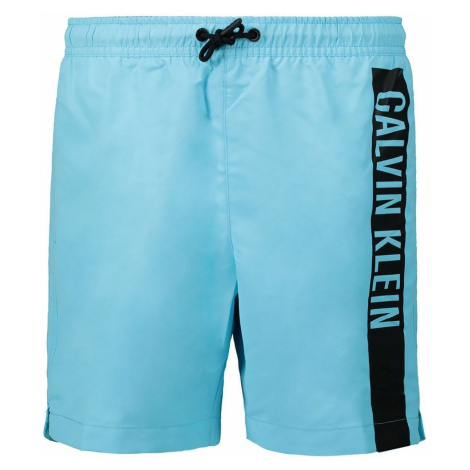 Calvin Klein modré chlapčenské plavky Medium Drawstring - 8-10