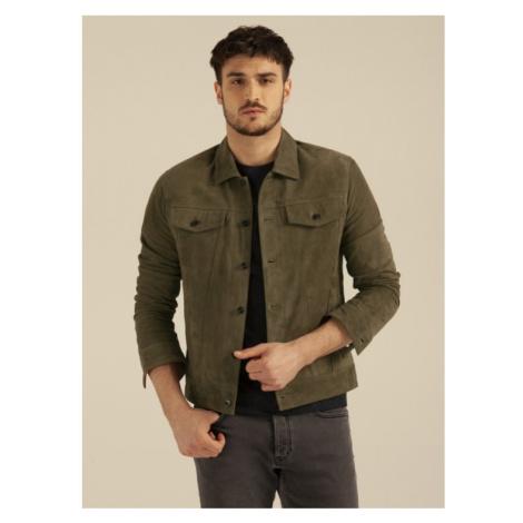 Pánska kožená bunda džínsového strihu od Ivany Mentlovej KARA