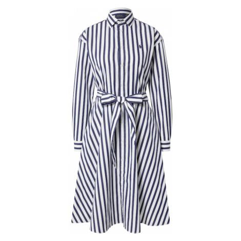 POLO RALPH LAUREN Košeľové šaty 'ELA'  biela / námornícka modrá